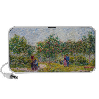 Courting Couples in the Voyer d'Argenson Park Gogh Laptop Speakers