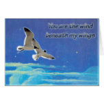 Courting Gulls Flying Love Card