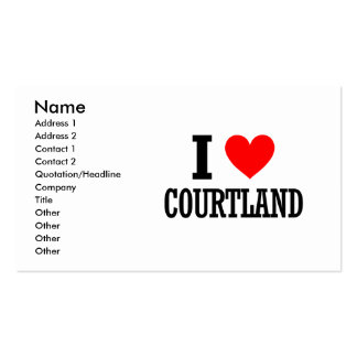 Courtland, Alabama City Design Double-Sided Standard Business Cards (Pack Of 100)