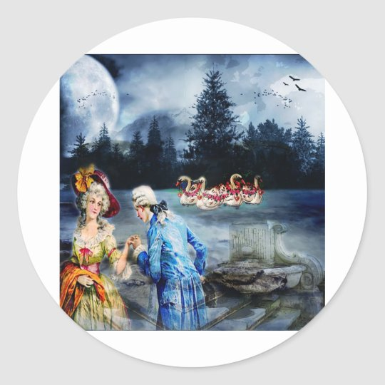 COURTLY LOVE CLASSIC ROUND STICKER