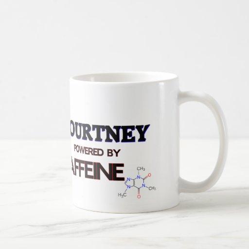 Courtney accionó por el cafeína taza básica blanca