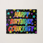 "[ Thumbnail: ""Courtney"" First Name, Fun ""Happy Birthday"" Jigsaw Puzzle ]"