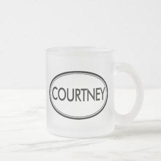 Courtney Frosted Glass Coffee Mug