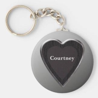 Courtney Heart Keychain by 369MyName