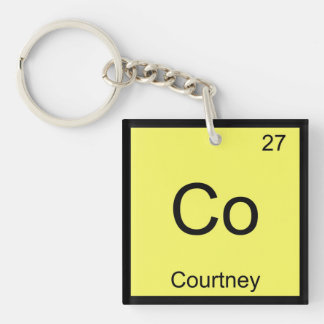 Courtney Name Chemistry Element Periodic Table Keychain