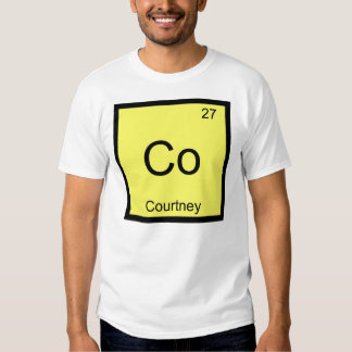 Courtney Name Chemistry Element Periodic Table T-Shirt