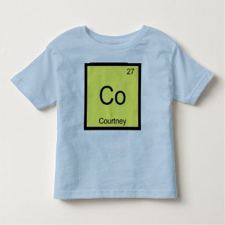 Courtney Name Chemistry Element Periodic Table Toddler T-shirt