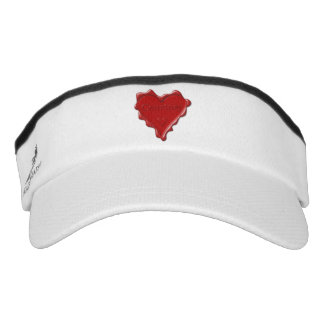 Courtney. Red heart wax seal with name Courtney Visor