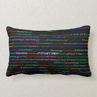 Courtney Text Design I Lumbar Pillow