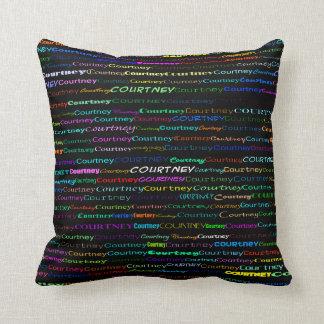 Courtney Text Design I Throw Pillow