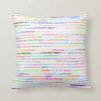 Courtney Text Design II Throw Pillow