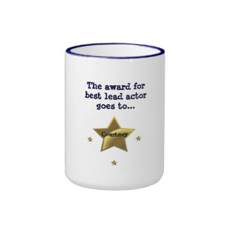 COURTNEY The Award For Best Lead Actor Coffee Mugs