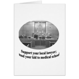 Courtroom Scene with Attorney quote Card