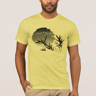 Courtside of Sunset Village Bamboo Design T-Shirt