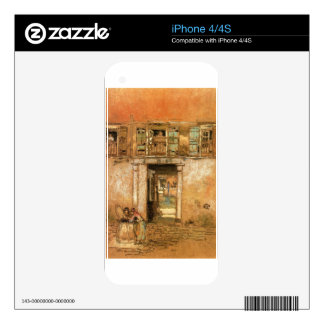 Courtyard and Canal by James McNeill Whistler Skins For iPhone 4S