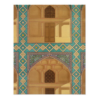 Courtyard Arcades in the Medrese-i-Shah-Hussein Poster