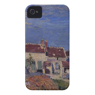 Courtyard at Les Sablons by Alfred Sisley iPhone 4 Cover