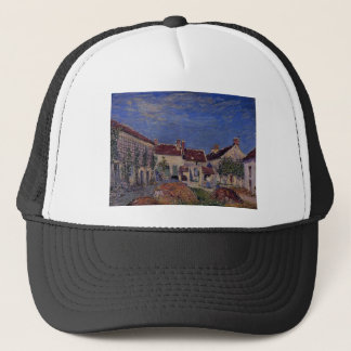 Courtyard at Les Sablons by Alfred Sisley Trucker Hat