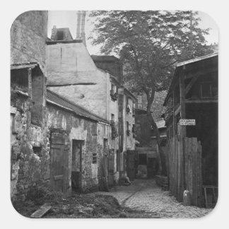 Courtyard at rue Larrey 8, Paris, 1858-78 Square Sticker