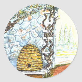 courtyard bee hive stickers