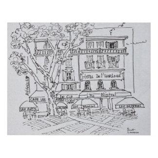 Courtyard Café | Hotel del'Horloge, Avignon Panel Wall Art