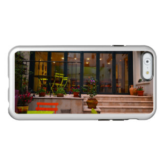 Courtyard cafe potted flowers Paris France Incipio Feather® Shine iPhone 6 Case