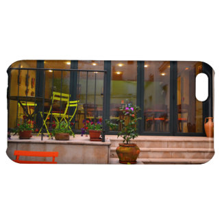 Courtyard cafe potted flowers Paris France iPhone 5C Case