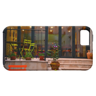 Courtyard cafe potted flowers Paris France iPhone SE/5/5s Case