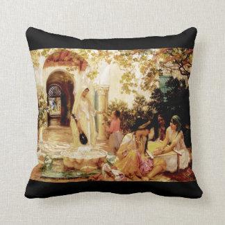 Courtyard, El Biar Throw Pillow