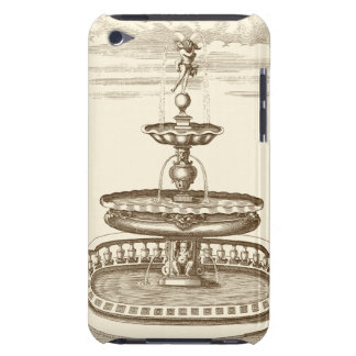 Courtyard Fountain with Ornamental Cherub iPod Touch Cover