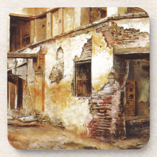 Courtyard in Morocco by Edwin Lord Weeks Coaster