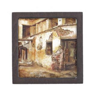 Courtyard in Morocco by Edwin Lord Weeks Jewelry Box