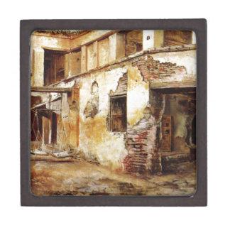 Courtyard in Morocco by Edwin Lord Weeks Keepsake Box