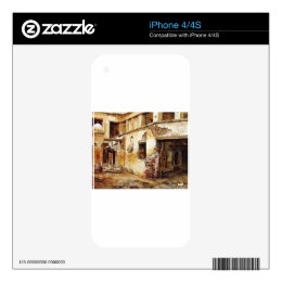 Courtyard in Morocco by Edwin Lord Weeks Skins For The iPhone 4