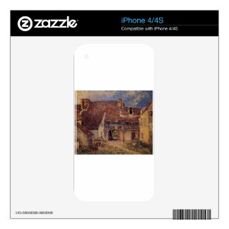 Courtyard of a Farm at Saint Mammes Alfred Sisley iPhone 4S Decal