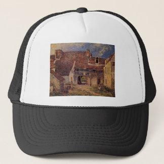 Courtyard of a Farm at Saint Mammes Alfred Sisley Trucker Hat
