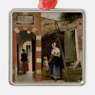 Courtyard of a house in Delft, 1658 Metal Ornament