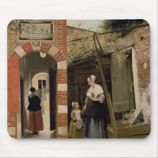 Courtyard of a house in Delft, 1658 Mouse Pad