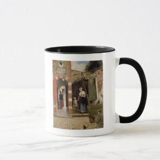Courtyard of a house in Delft, 1658 Mug