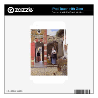 Courtyard of a house in Delft by Pieter de Hooch iPod Touch 4G Decal