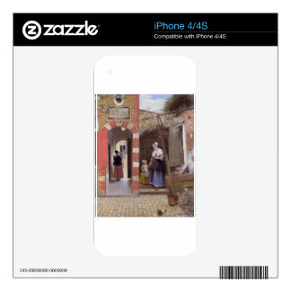 Courtyard of a house in Delft by Pieter de Hooch Skin For The iPhone 4S