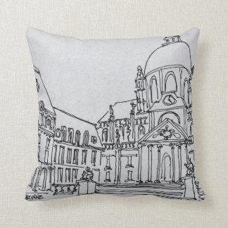 Courtyard of La Sorbonne | University of Paris Throw Pillow