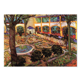 Courtyard of the Hospital at Arles by van Gogh Personalized Invites