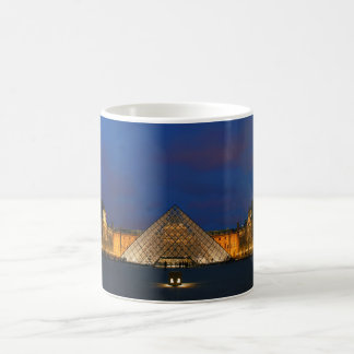 Courtyard of the Louvre Museum and its pyramid Coffee Mug