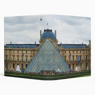 Courtyard of the Louvre Museum with the Pyramid Binder