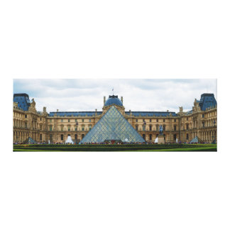 Courtyard of the Louvre Museum with the Pyramid Canvas Print