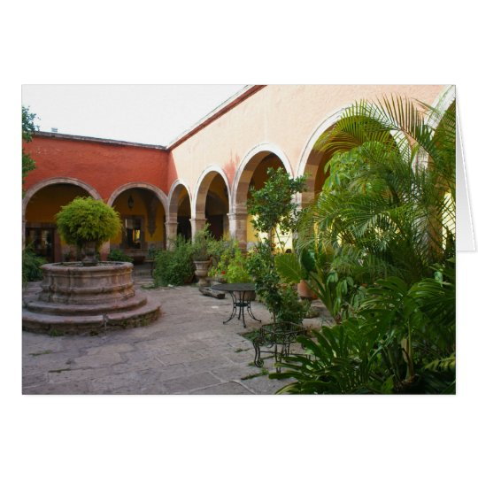 Courtyard San Miguel de Allende Card