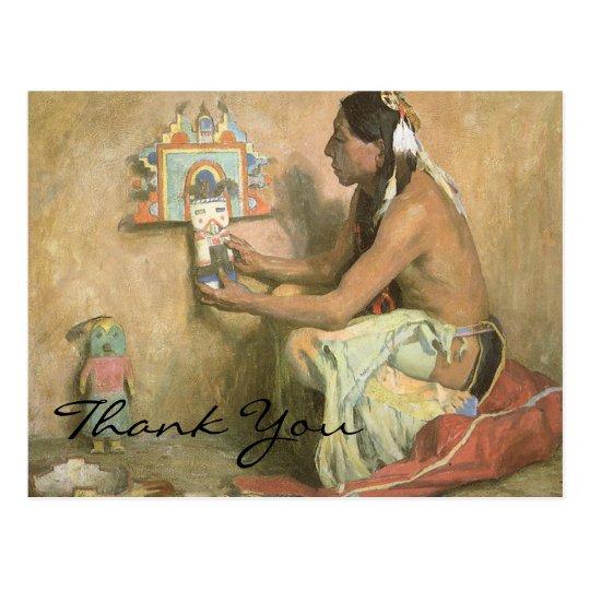 Couse's Hopi Katchina Postcard