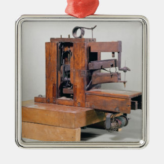 Couseuse', the first sewing machine, 1830 metal ornament