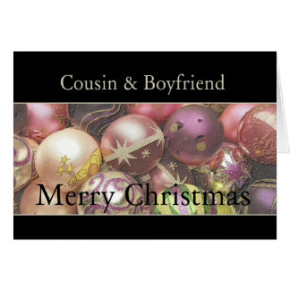 cousin and boyfriend Merry Christmas card